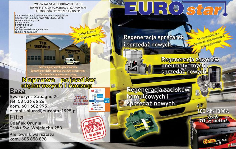 Serwis instalacji wfirmie Euro-star ulotka